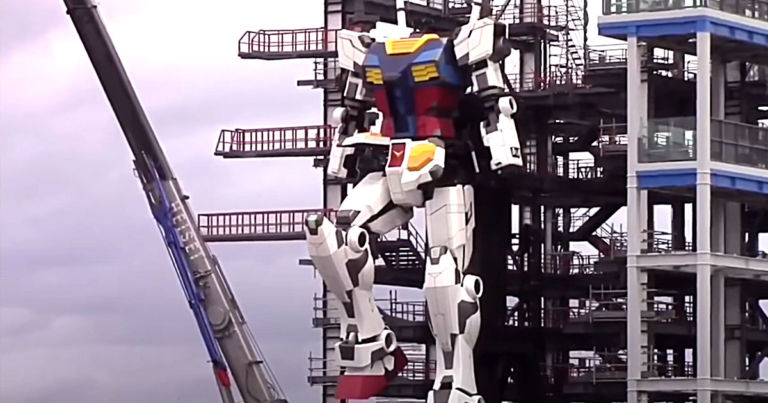 Watch a 60-Foot Mecha-Style Robot Take Its First Steps