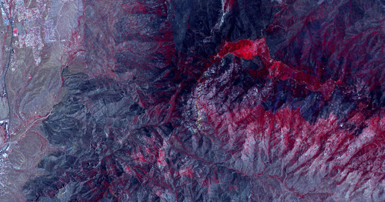 This forest fire was so huge, NASA spotted it from space