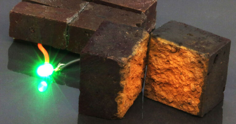 Nanotech scientists manage to turn a brick into a battery