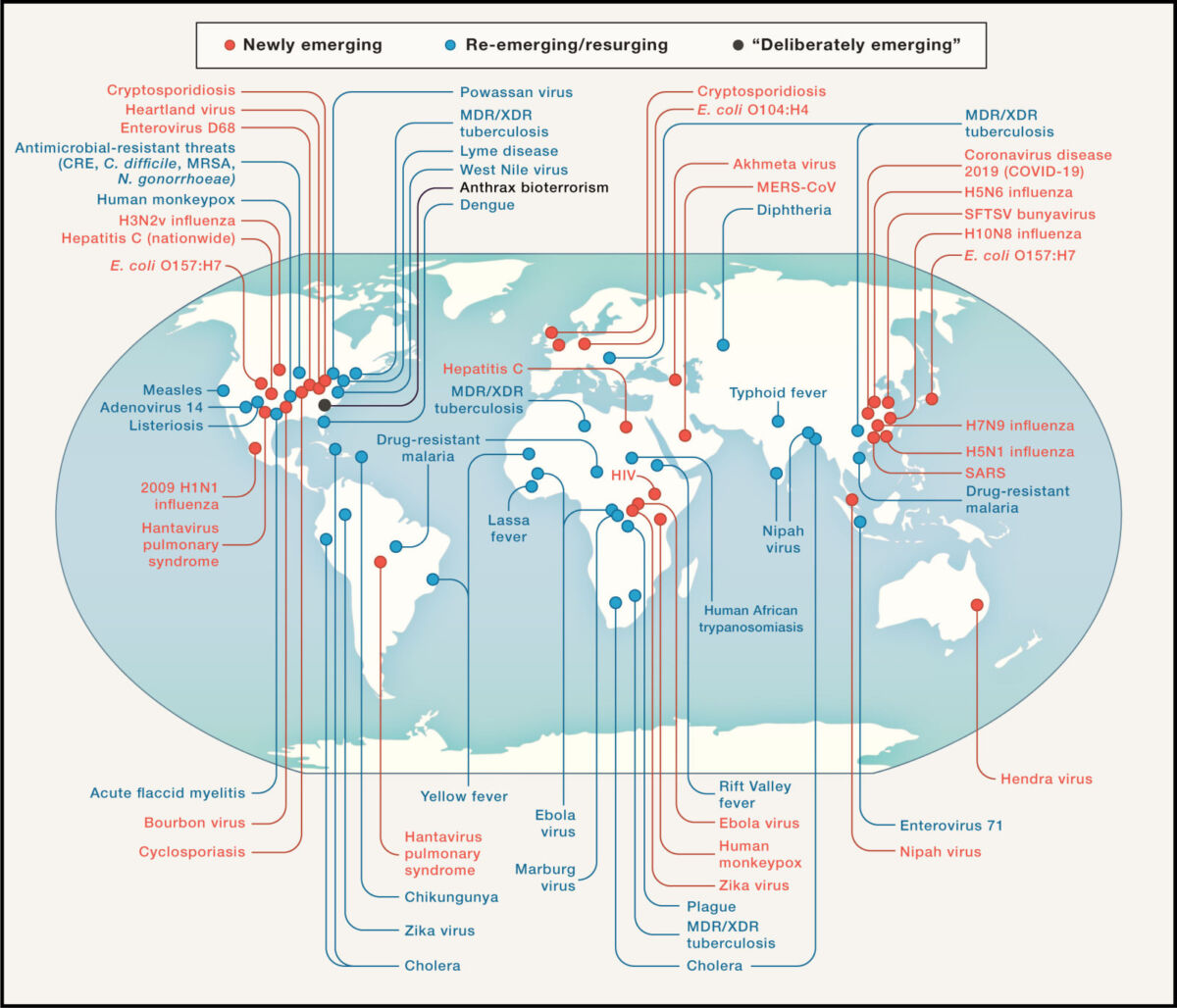 Dr. Fauci Just Released a World Map of Ongoing Disease Outbreaks 2