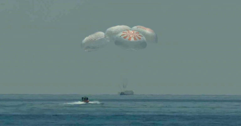 Mission accomplished: SpaceX Crew Dragon splashes down in Atlantic