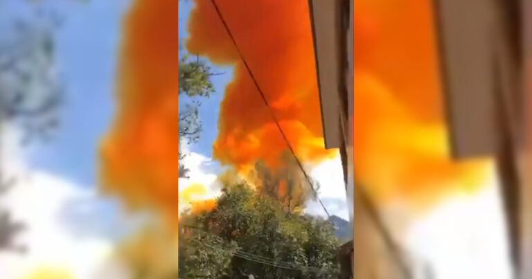Chinese rocket booster crashes near school, explodes