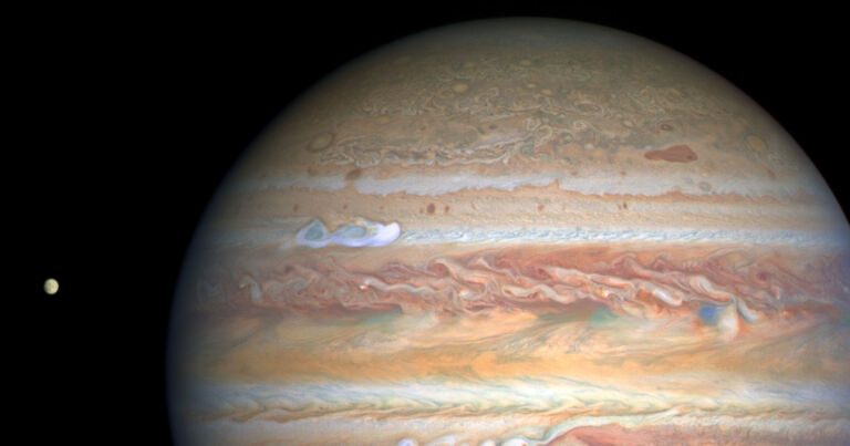 Hubble catches massive new storm brewing on Jupiter