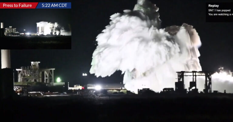 Watch a SpaceX Starship test tank explode spectacularly