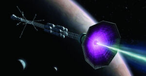 A team of engineers argues that a spacecraft powered by nuclear fusion would radically improve our ability to explore the cosmos.  Fusion-Drive Spacecraft: Specific Photo voltaic System Journey, If We Determine It Out Fusion Drive Spacecraft Exploring Solar System 300x158