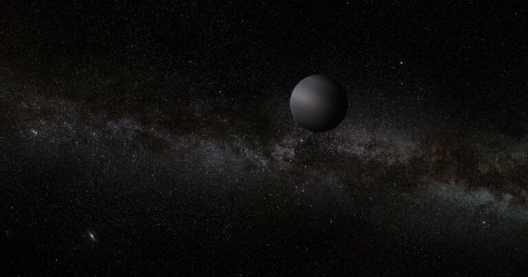 An Earth-sized planet is floating around without a star