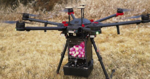 Firefighters across the West Coast are dropping special fireballs from drones to keep an unusually severe wildfire season under control.