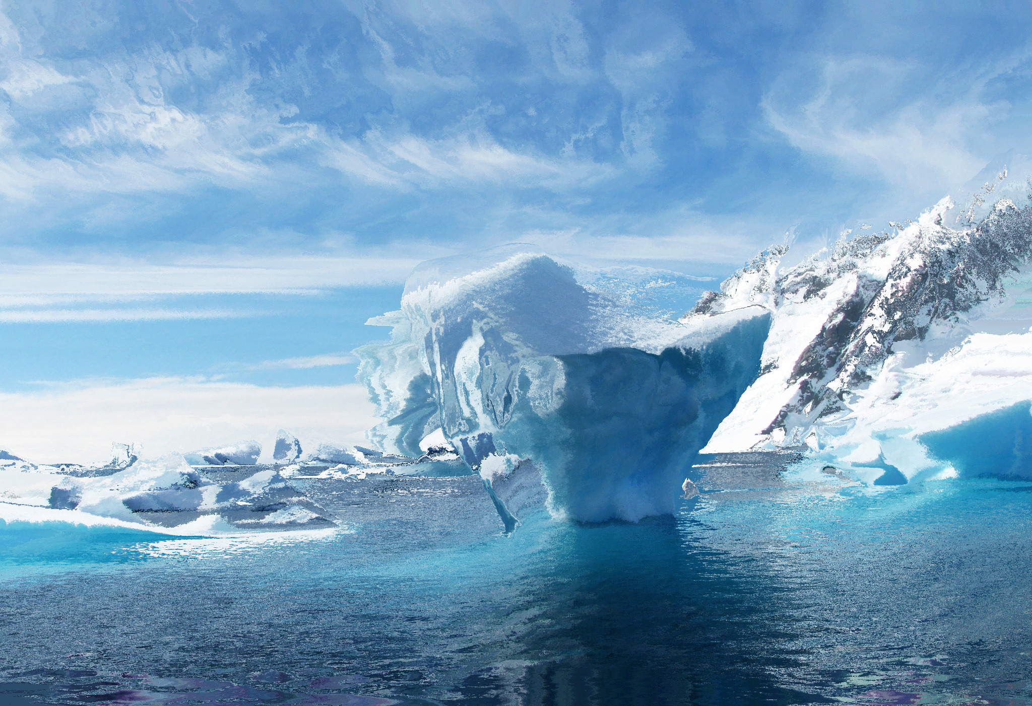 melting antarctica raise sea level more than expected.