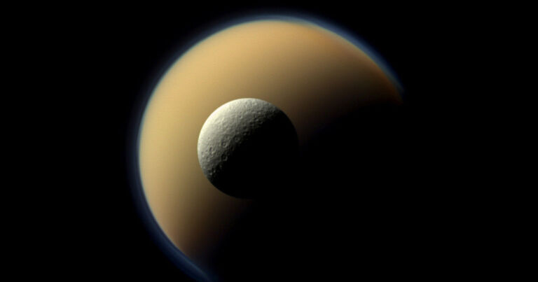 """NASA scientists spot """"really unexpected"""" molecule in atmosphere of Saturn's largest moon"""