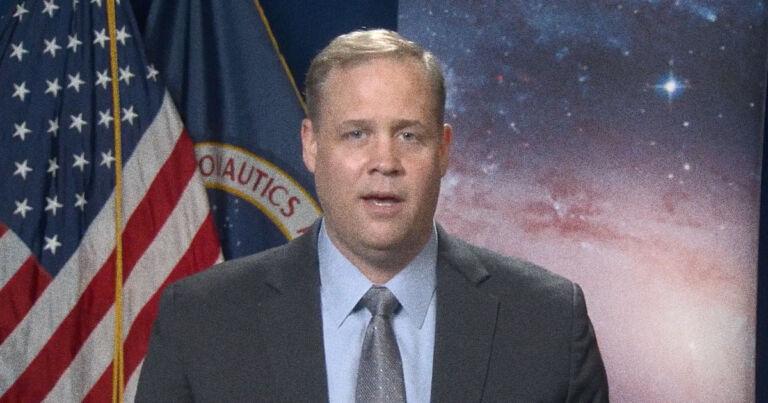 In video, NASA head Bridenstine gives emotional goodbye