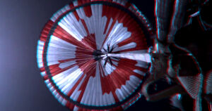 NASA engineers managed to hide a clever message in the red and white colors of its Perseverance rover's parachute that it used to successfully land on Mars.