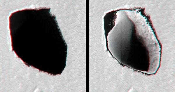NASA Spots Deep, Strange Hole on Mars