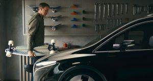 Tony Hawk Reveals Electric Minivan With Built-In Electric Longboard
