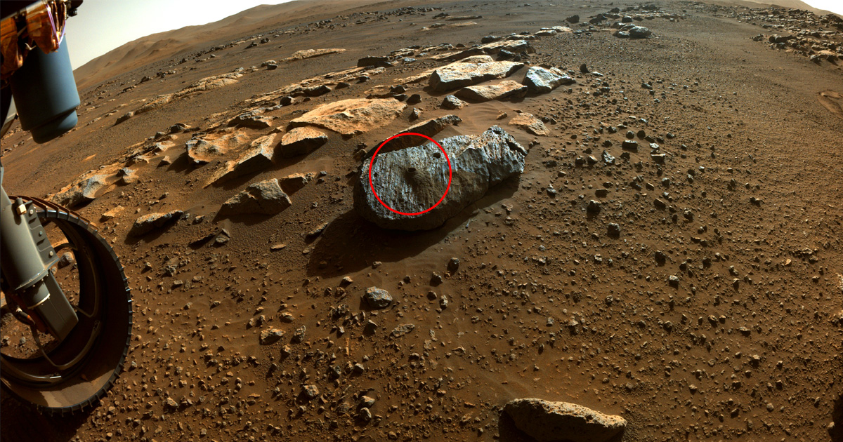 It Worked! NASA's Mars Rover Definitely Scooped up Rock Samples This Time